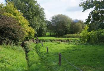 The little meadow and river are just across the lane so if you don't want to take to the car you can explore from your doorstep. There is a public footpath here too.