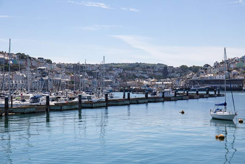 The stunning Brixham marina.