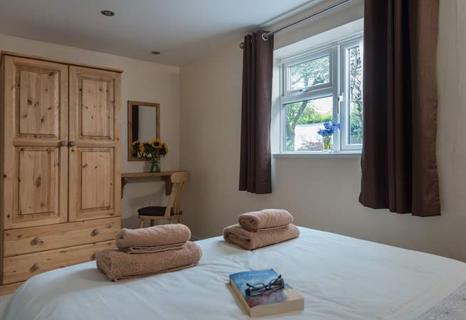 Spacious, comfortable and with views over the owners' garden to the rear.