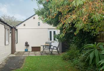 Situated to the rear of the garden behind the owners' property means you are set well back from the road.