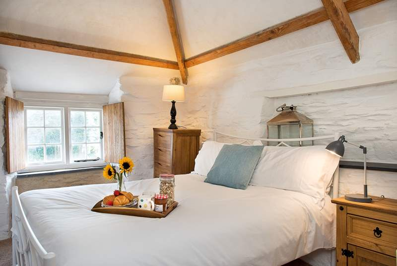 The cottage has two beautiful bedrooms.