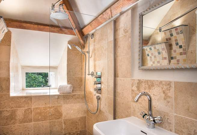 The stylish en suite shower-room to bedroom 2.