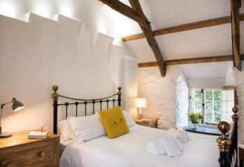 Bedroom 1 has a super comfy king-size bed.