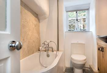 The downstairs bathroom - please note the bath is not full size.