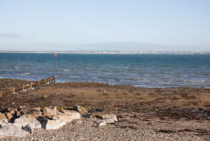 From the seafront you can look over to the mainland, watch the ships sail by or enjoy a spot of rockpooling.