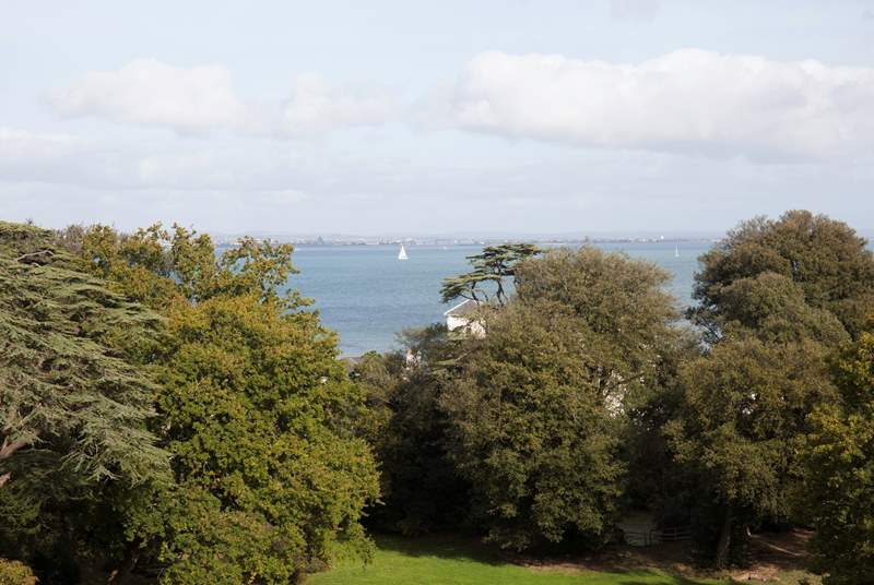 Catch glimpses of the sea across the tree tops