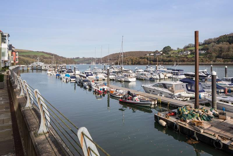 What incredible views across the River Dart from your terrace.