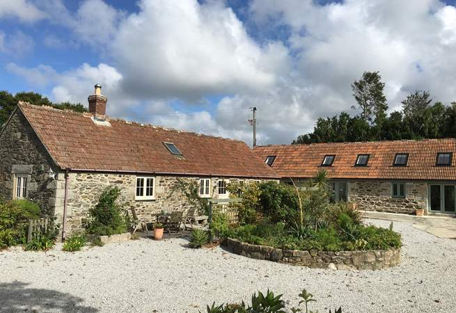 Lavender Barn is a converted barn just across the courtyard from the owners' home and Pilates and Massage studio.