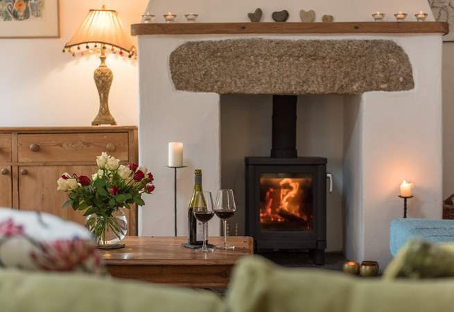 The wood-burner gives out a glorious heat making this cottage a perfect retreat at any time of the year.