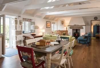 A sunny, spacious living-area.