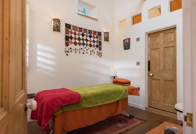 Massage treatment room.