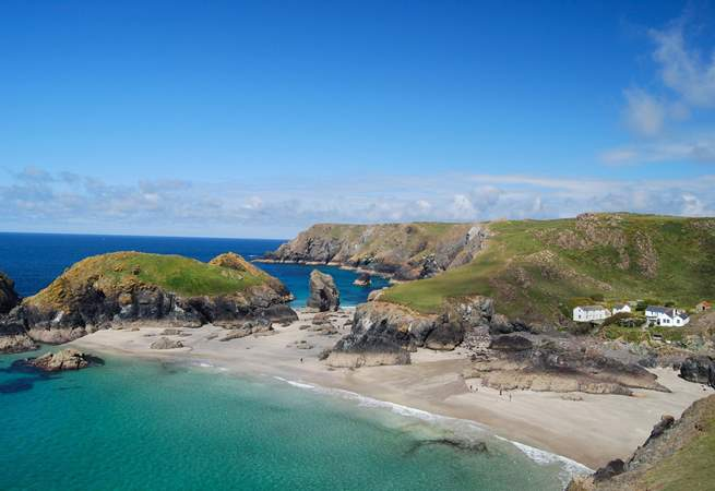 Kynance Cove is one of the many amazing coves on the nearby Lizard Peninsula.