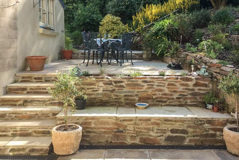 The patio is a delightful sun-trap to while away the hours in perfect peace and tranquility.