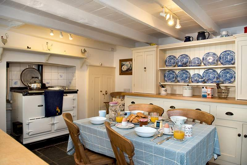 The kitchen/breakfast-room really is the heart of the home with its Farmhouse dresser.