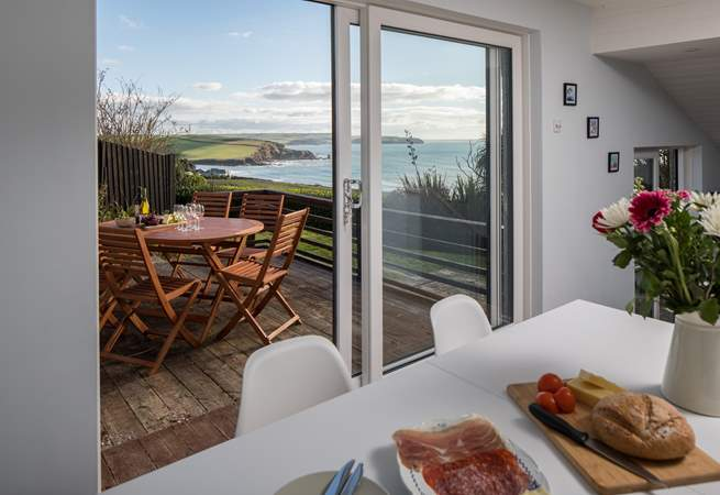 You can continue to enjoy the outstanding views from the dining-area.