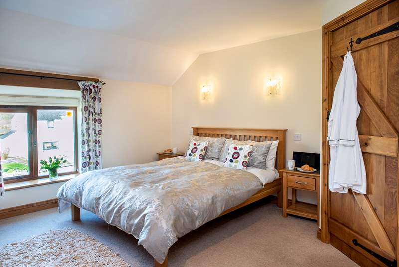 The barn has two delightful bedrooms.