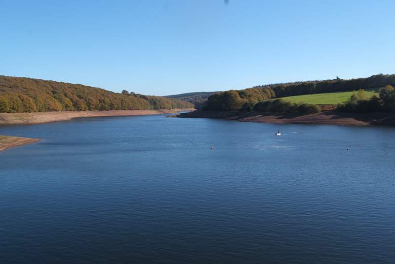 This is Wimbleball Lake, just a very short drive away. Once there, you will find several fabulous walks. There are watersports for the more adventurous - best to book in advance if you want to try sai