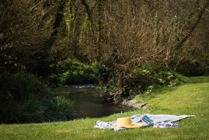 Relax by the stream listening to the babbling water.