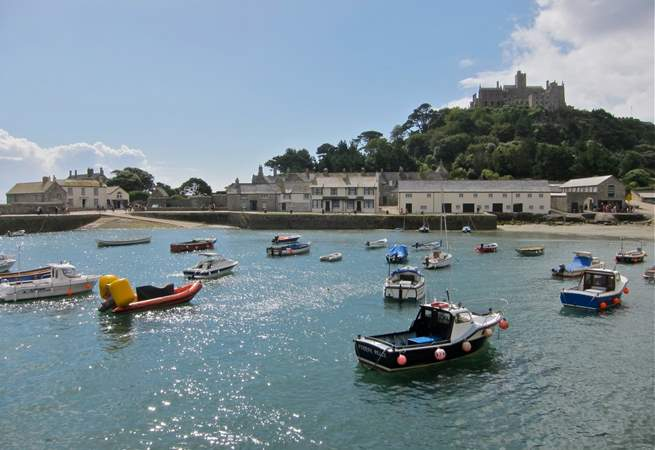 There is a pretty harbour at the Mount.