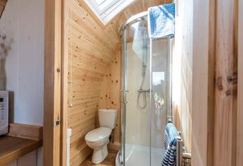 The en suite shower-room is at the rear of the pod.