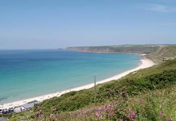 The stunning beach at Sennen is great for bucket and spade days or surfing.
