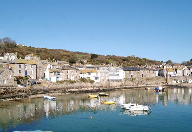 The nearby fishing village of Mousehole is just a short drive away.