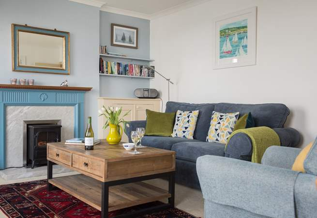 Comfortable sofas and books to read...if you can stop looking out of the windows!