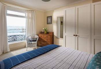 Bedroom 1 is on the ground floor and shares the fabulous views.