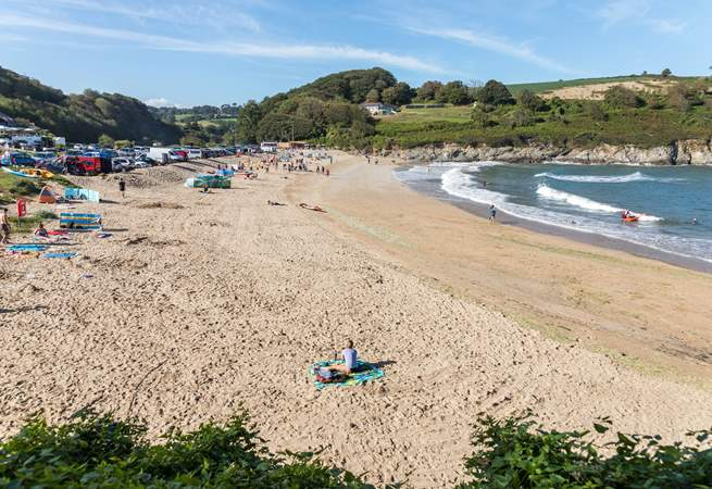 Swanpool is another lovely local beach with a beach cafe and water sports on offer.