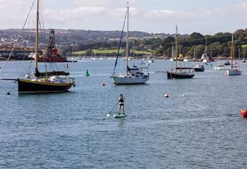 Perhaps try paddle boarding over to Flushing, which can be seen from 3 Thetis Place, for a well deserved cold pint.