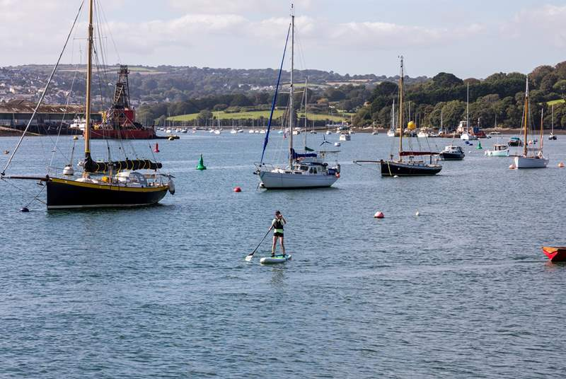 Perhaps try paddle boarding over to Flushing which can be seen from 3 Thetis Place for a well deserved cold pint.
