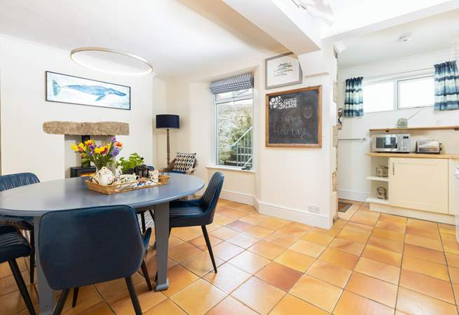 The ground floor kitchen/dining-room is a wonderfully convivial place to gather.