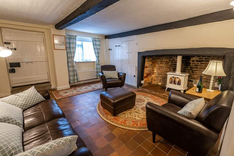 Sit back and relax in the sitting-room which has a gorgeous original inglenook fireplace with a delightful wood-burner effect gas stove.