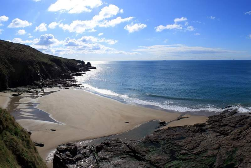 Porthcew Beach (otherwise known as Rinsey beach).