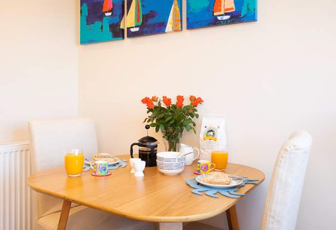 Enjoy a hearty breakfast while planning your day ahead.