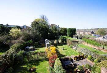 Pretty views from the bedroom window overlooking the neighbouring gardens.
