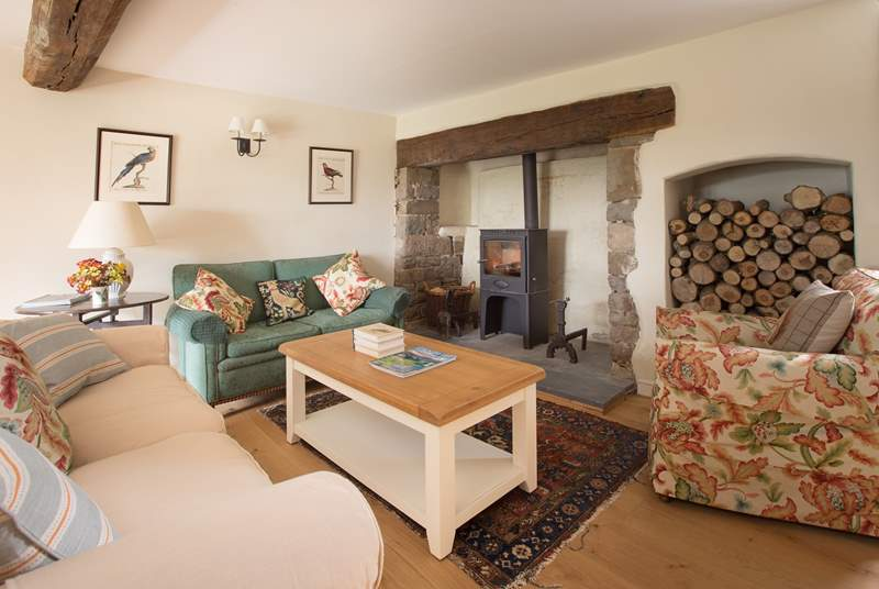 Another view of the sitting-room which has cosy clusters of sofas and armchairs and so a great gathering room for all the family.
