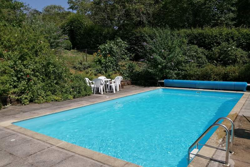 This is the open air unheated swimming pool (open during June, July and August).