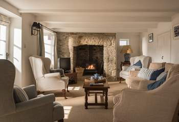 Warm your toes in front of the wood-burner.