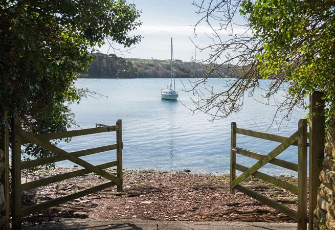 The slipway is perfect for launching kayaks or a dinghy.