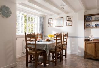 The dining-table with plenty of space for six.
