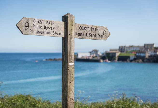 The coastpath is easy to explore from this fabulous location.