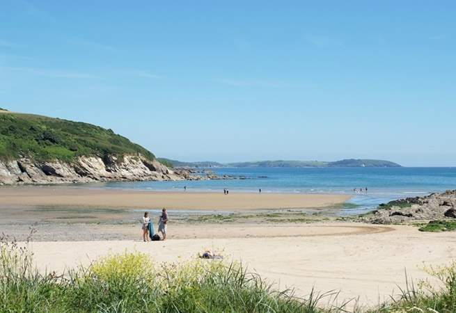 Maenporth Beach is a lovely sandy cove.