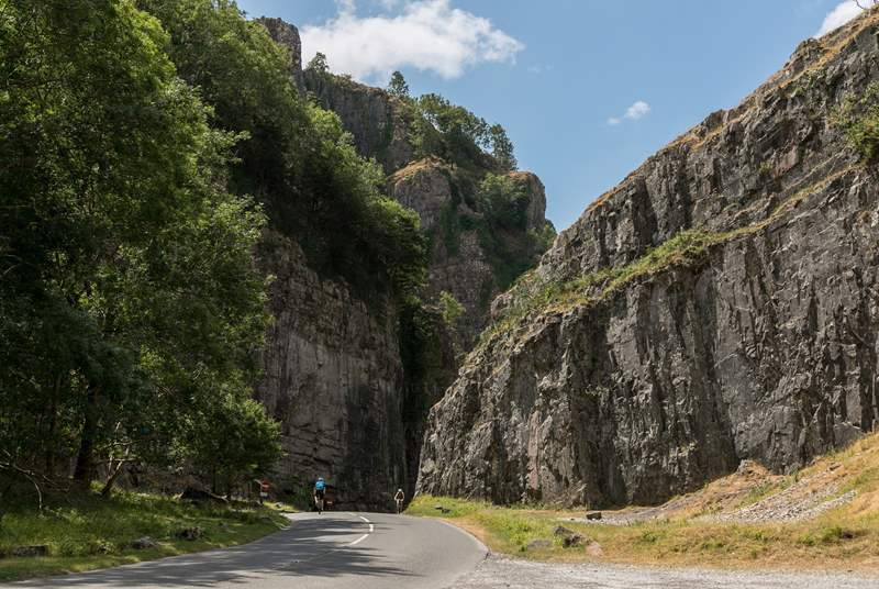 The famous Cheddar Gorge is nearby but the lesser known Ebbor Gorge is spectacular too.