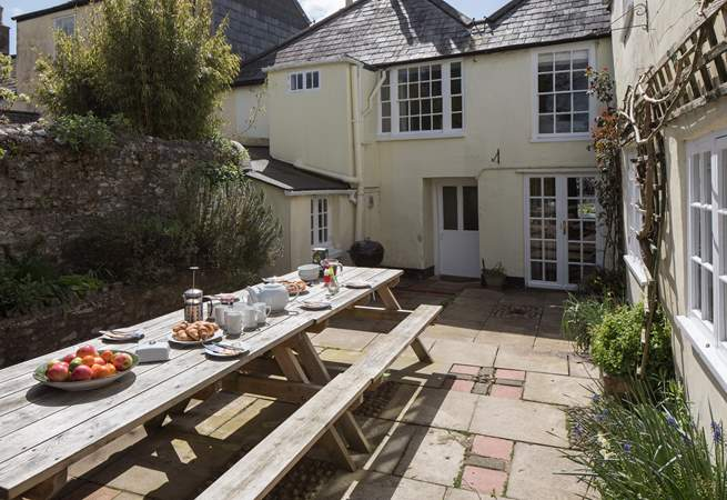 The patio is a sun-trap, perfect for a late lazy breakfast or barbecue.