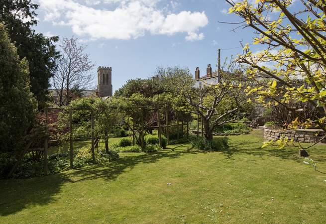 The church is opposite The Old Manor House, which gives you some idea of the size of the garden.