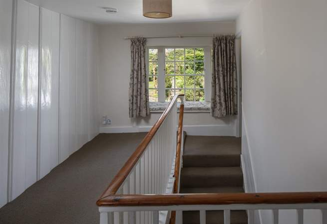 Everything in the gorgeous house is elegant, this beautiful window seat on the landing looks out over the rear garden.