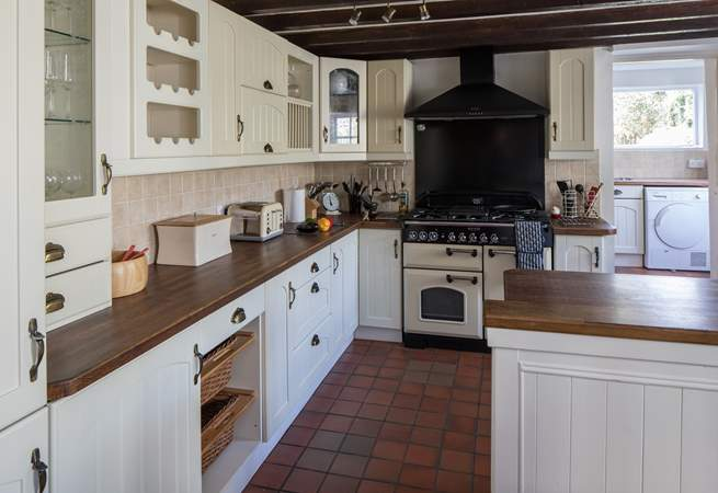 The kitchen has everything that you need for a family holiday or special occasion, with a range cooker and two dishwashers, so that no-one has to wash up.