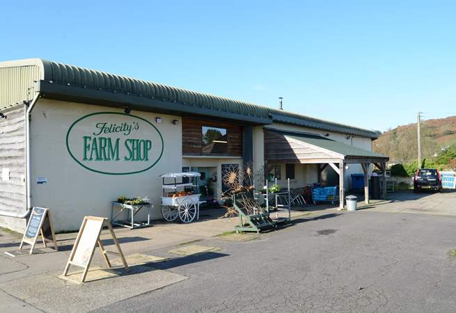 The award-winning Felicity's farm shop has delicious local produce and holiday treats.