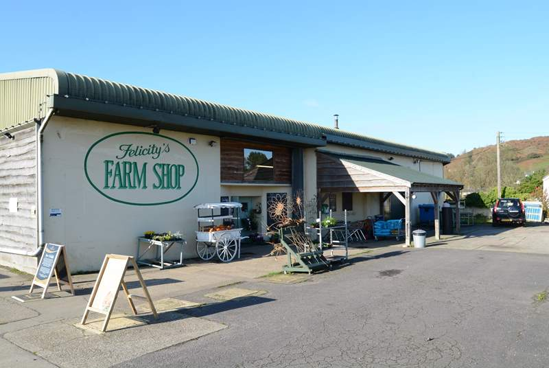Award-winning Felicity's farm shop, full of holiday goodies.